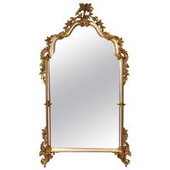 Antiker verzierter vergoldeter Spiegel, Labarge zugeschrieben