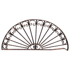 Antique Wrought Iron Decorative Window Guard