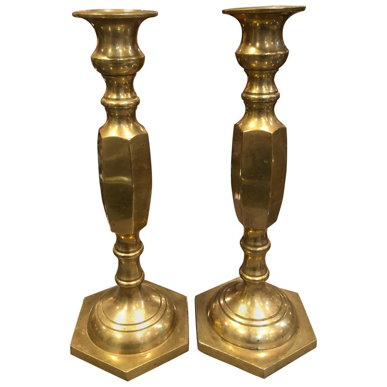 Pair of Brass Candlesticks 1