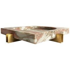 Parallel Bowl in Pink Marble