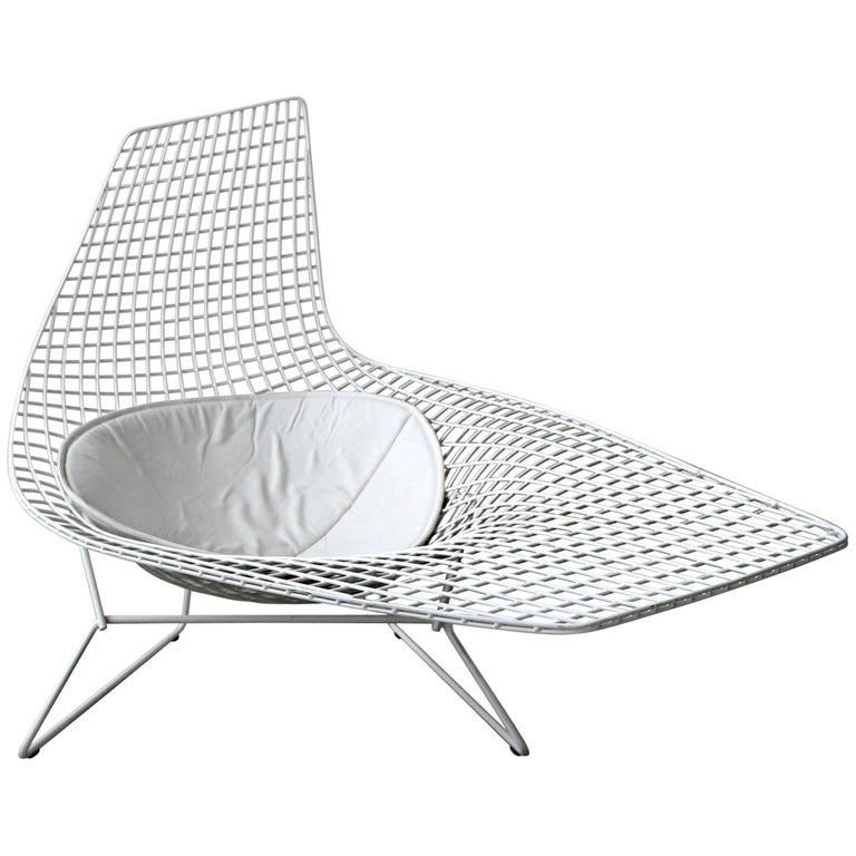 Authentic Knoll Bertoia Asymmetric Chaise For Sale At 1stdibs