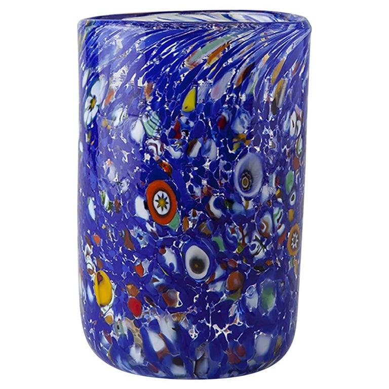 Handmade Unique Murano Glass Drinking Glass Goto For Sale