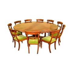 Bespoke Regency Flame Mahogany Jupe Dining Table & 10 Chairs 21st Century