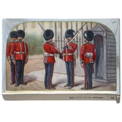 "Victorian Silver & Enamel ""Changing of the Guard"" Vesta Case by S Mordan, 1897"