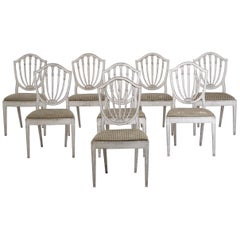Set of 8 Chairs, Probably Danish, in the Style of C.J. Lillie, 19th Century