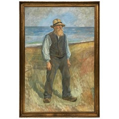 Johannes M. S. Wilhjelm, Fisherman on the Beach, 1900s