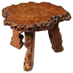 Small Sectional Tree Trunk Stool