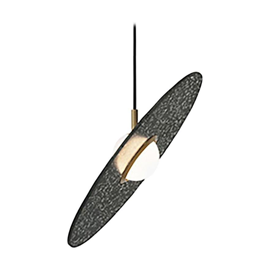 'Planet' Terrazzo Pendant Lamp by Bentu Design 'Black'