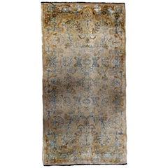 Handmade Antique Kerman Style Rug, 1920s, 1B703