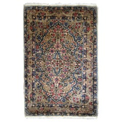 Handmade Antique Kerman Style Rug, 1920s, 1B704