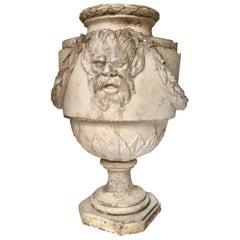 Große Pflaster Vase Antik Stil