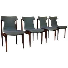 Set of Four Rosewood Dining Chairs by Inger Klingenberg for Fristho, circa 1960