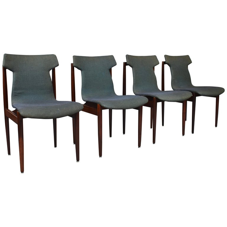 Set of Four Rosewood Dining Chairs by Inger Klingenberg for Fristho, circa 1960 For Sale