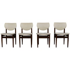 Set of Four Wenge Dining Room Chairs, circa 1960