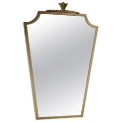 Bronze-Spiegel André Arbus Stil, 1940er Jahre
