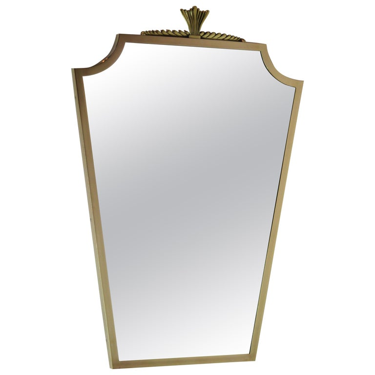 Bronze Mirror André Arbus Style, 1940s For Sale