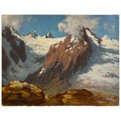 Johannes Kindorf , High Alpine Scenery, 1960s