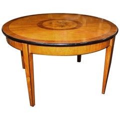 Circular Inlaid Satinwood Coffee Table