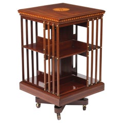 Early 20th Century Edwardian Revolving Bookcase by Maple & Co