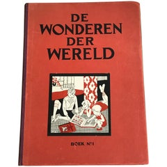 """Wonders of The World"" Belgian Book of Prints, Birds, Ethnographic, Insects"