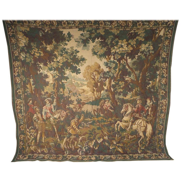 Very Large 20th Century Tapestry Wall Hanging 18th Century