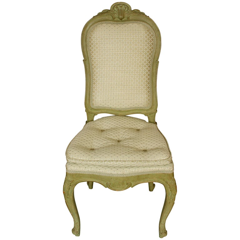 Four Carved Shell Back Dining Chairs For Sale