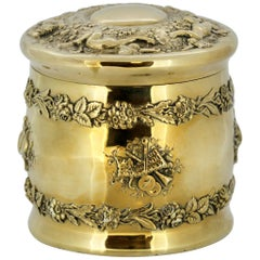 Tiffany & Co. Sterling Silver Tea Caddy, circa 1885