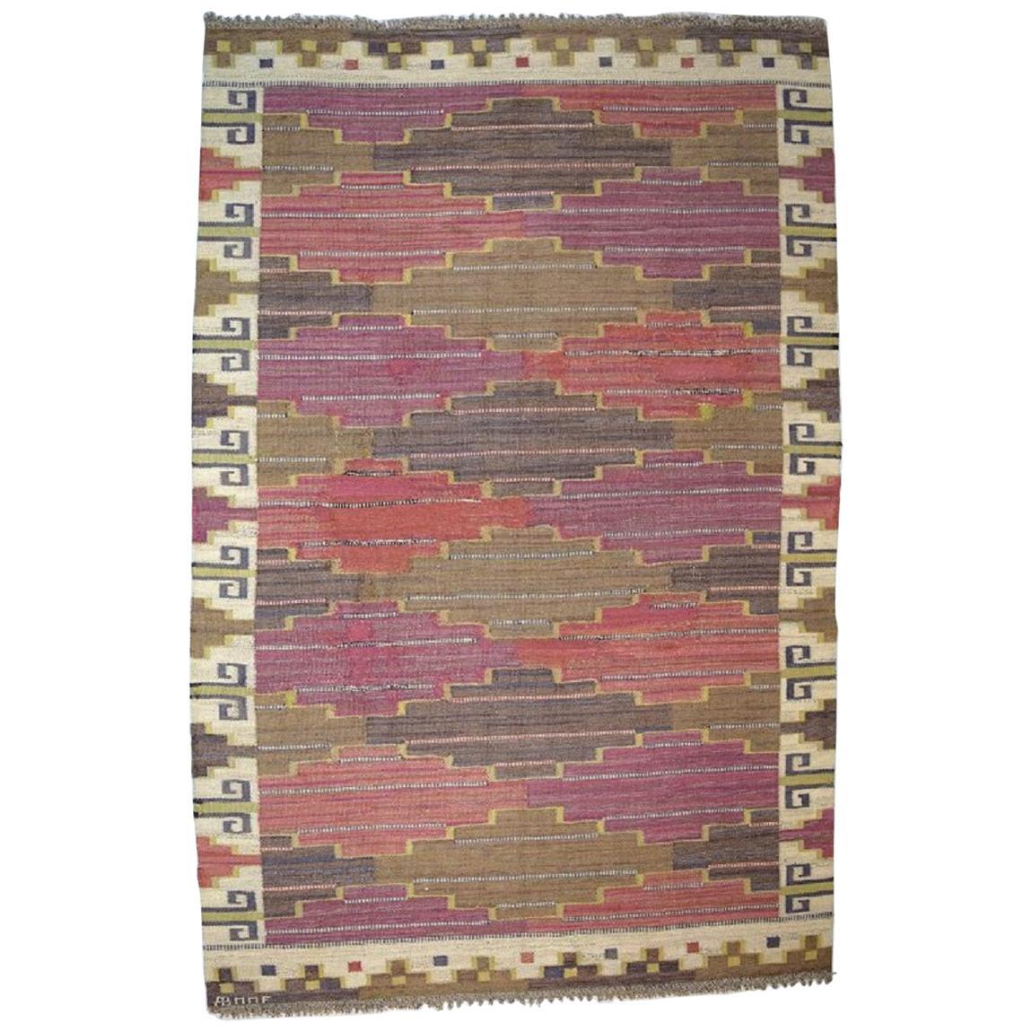Märta Måås-fjetterström, Sweden Large Handwoven Carpet, Wool