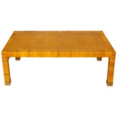 Midcentury Rattan Bielecky Coffee Table