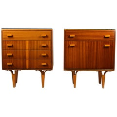 Midcentury Nightstands from Novy Domov, 1970s, Set of Two
