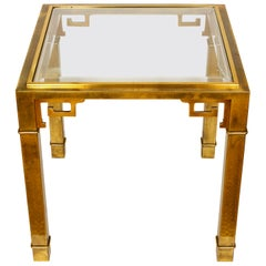 Mastercraft Vintage Asian Greek Key Side Table in Brass