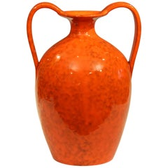 Vintage Italian Pottery Bright Atomic Orange Italica Ars Rosenthal-Netter Vase