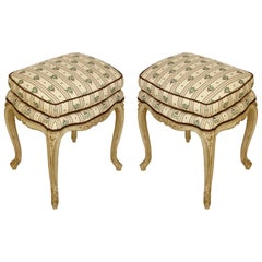Pair of Louis XV Painted Stools