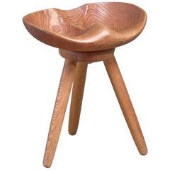Sculptural Swedish Craft Stool