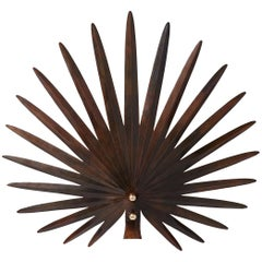 "Rosie Li ""Inez"" Sculptural Wall Light in Antique Copper and Brass"