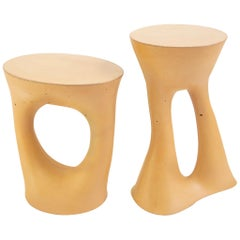 Pair of Mustard Kreten Side Tables from Souda, in Stock