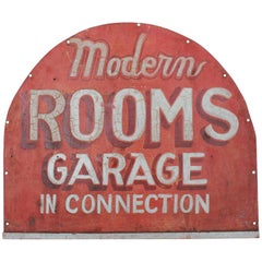 1930s Hand Painted Double Sided Tin Sign