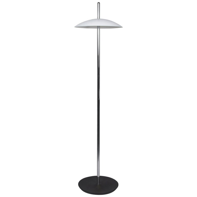 Customizable White and Nickel Signal Floor Lamp from Souda, Made to Order For Sale