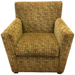 Maurice Villency Mid-Century Modern Upholstered Armchair Club