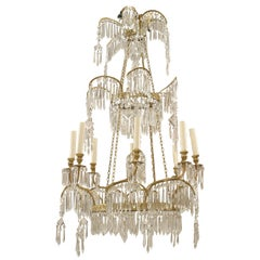 Russian Crystal and Gilt Bronze Chandeliers