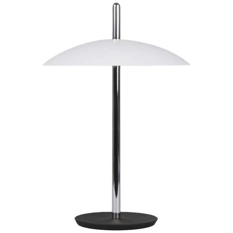 Customizable Signal Table Light from Souda, White x Nickel, Made to Order For Sale