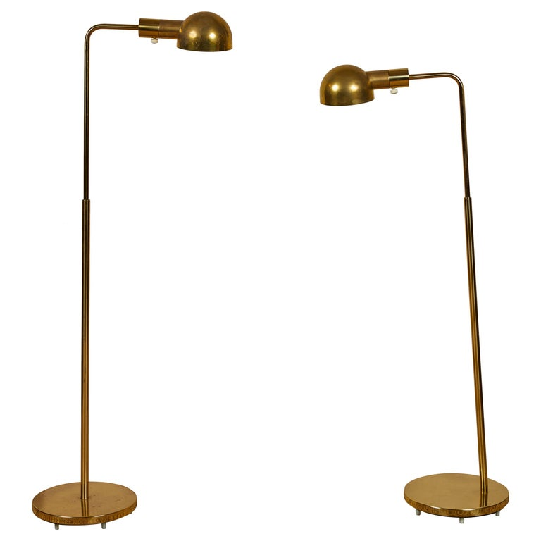 Casella Brass Floor Lamps For Sale