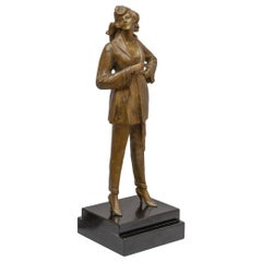 Art Deco Bronze of a Classy Woman by Bruno Zach