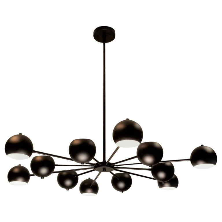 Modern Supernova Chandelier in Oil-Rubbed Bronze by Blueprint Lighting For Sale