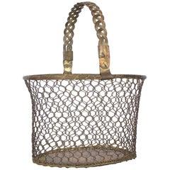 Midcentury Brass Waste Basket