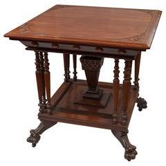 Spät-Viktorianischer Salon Mahagoni-Tisch