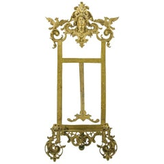 Rococo Style Bronze Table Easel Book Stand