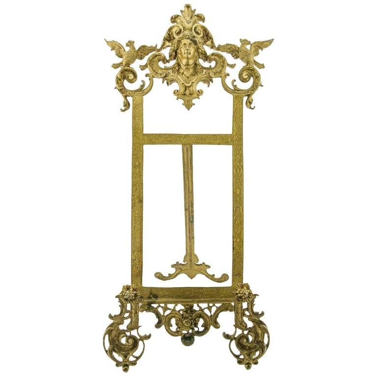 Rococo Style Bronze Table Easel Book Stand For Sale