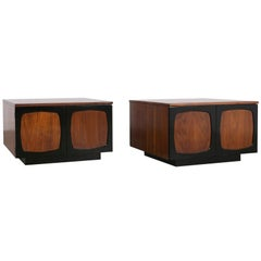 Pair of Mid-Century Modern Lacquered Cube Nightstands