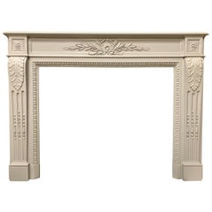 Louis XVI Style 19th Century French Mahogany Fireplace Surround
